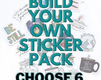 Pack of 6 Faith Inspired Vinyl Die Cut Stickers Your Choice