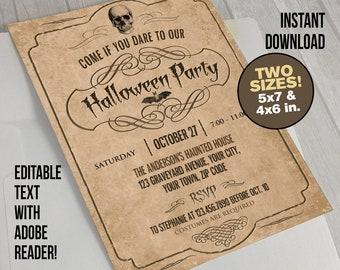 adult halloween invitation instant download halloween party halloween costume party spooky halloween invite halloween tombstone invite