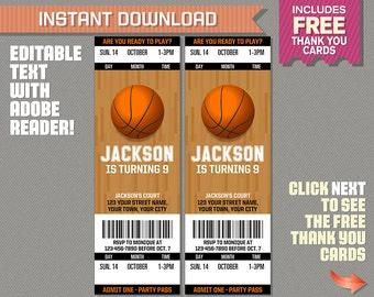 basketball ticket etsy