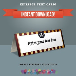 Spy Party Printable Tent Cards  Place Cards  Food Labels Print at home Secret Agent Party Editable PDF file