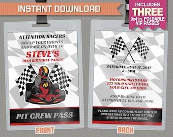 Go kart invitation Etsy
