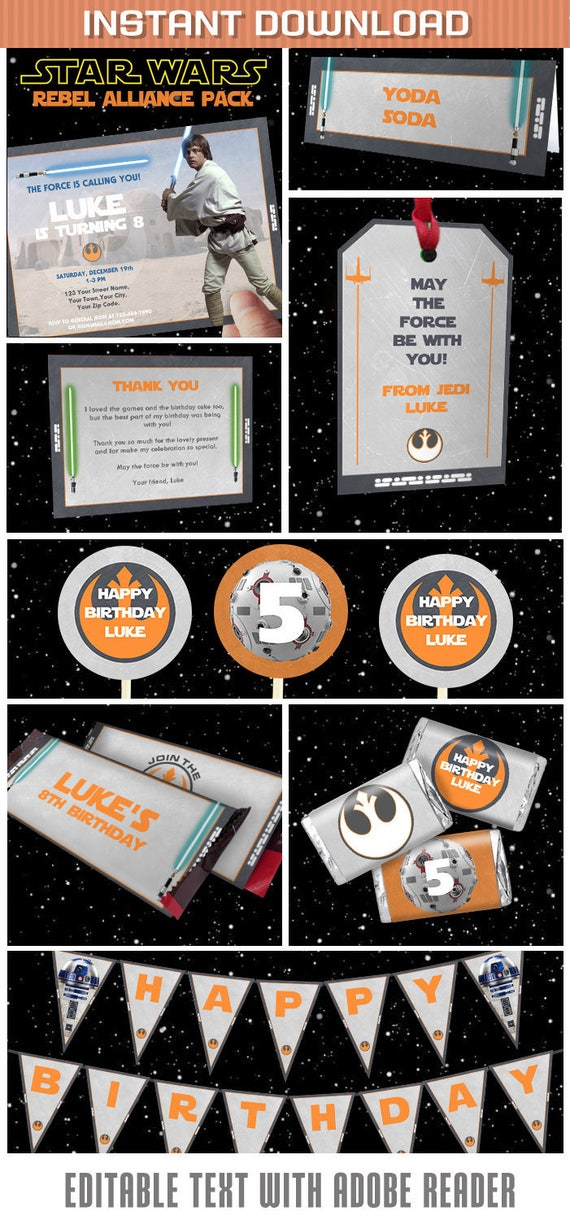 Star Wars Party Invitations Decorations
