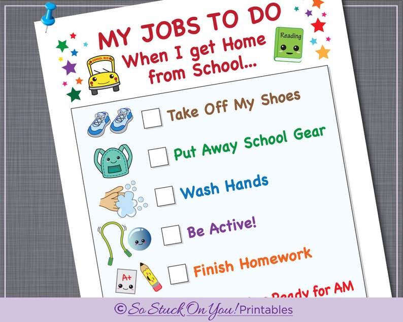 image regarding After School Schedule Printable called Program Chore Chart for Afterschool - Prompt Down load - Printable - Youngsters can maintain observe of their each day plan!