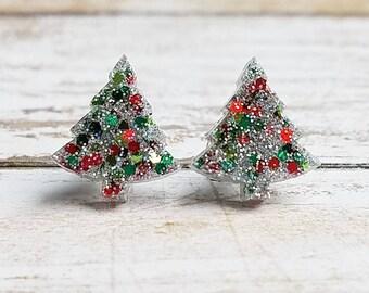 65bab3959 Christmas Earrings Christmas Jewelry Christmas Tree Earrings Christmas  Gifts Christmas Posts Tree Gifts Holiday Earrings Holiday Gifts