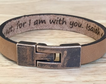 Bracelets for Men,Men Leather Bracelet,Customized Wristband,Personalize Leather Bracelet,Christmas Gifts,College Students Jewelry,Guys Gifts