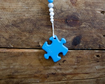 READY TO SHIP! Puzzle Piece Teether, Pacifier Clip, Soother Clip