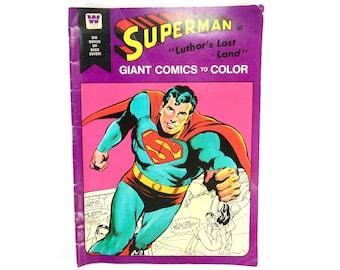 Superman Coloring Book Etsy