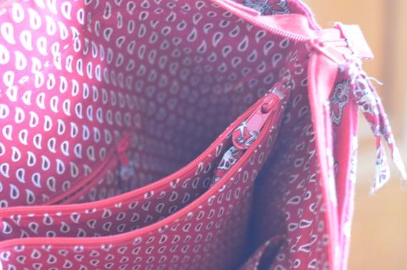 Red Bandana METROPOLITAN Vera Bradley Bag   Etsy 1113be62bc