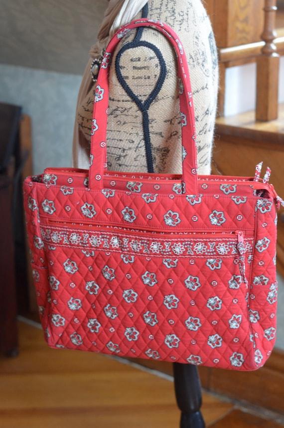 Paliacate rojo metropolitana Vera Bradley bolsa