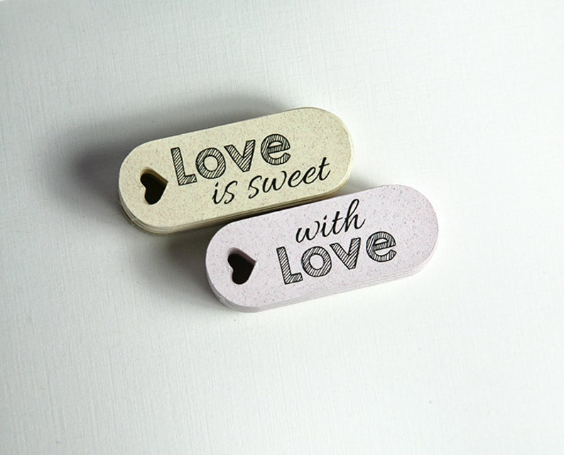 Mini Wedding Favor Tags with LOVE LOVE is sweet Wedding Favor Tags Personalized  Favor Tags