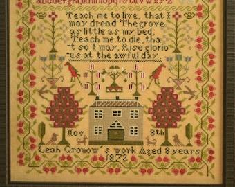 Leah Gronow 1872, a Welsh Folk Art Sampler