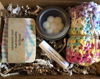 Fruit Smoothie bath set, gift spa set