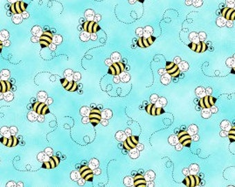 Sunshine Kisses Bumblebees - Studio E Fabrics- Fabric by the yard