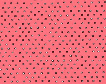 Pixie - Square Dot Blender - Salmon - Fabric by the Yard