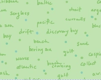Sea Glass - Words By Cindy Rink - Fabric by the yard