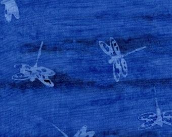 Sea Batik - Blue Dragon Flies - Fabric by the Yard