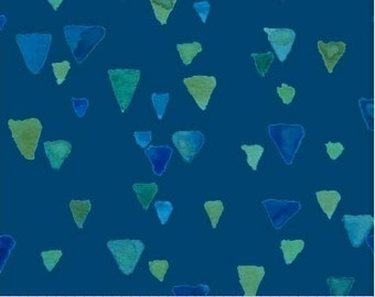 Sea Glass with Green Stones  By Cindy Rink - Fabric by the yard