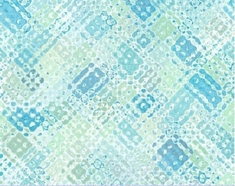 Sea Glass Green Stamped Print  by Cindy Rink - Fabric by the yard