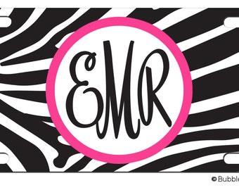 Personalized Car Tag License Plate ZEBRA Animal Print Jungle Any Color