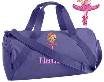 Personalized Ballet Bag for Dance - Dance Bag - Girl Ballet Bag - Toddler Ballet Bag - Childrens Ballet Bag - Embroidered Ballerina