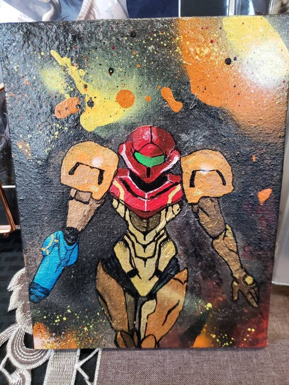 ORIGINAL Samus Fine Art Acrylic Painting // Painting on Canvas Original Fan  Art // Metroid Prime // Nintendo // Girls of Gaming // Game
