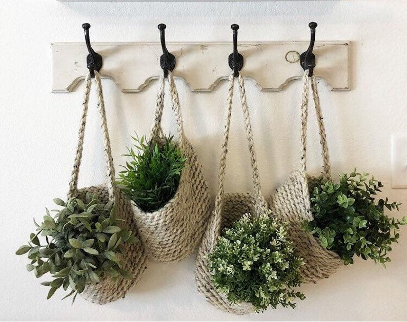 Hanging Basket Storage Basket Hanging Basket For Plants Etsy