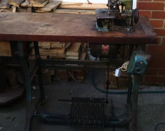 singer sewing machine industrial unit. vintage.for quirky table.cafe,home. museum piece.steam punk