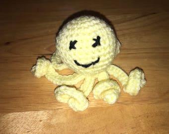 Light Yellow Mini Stuffed Octopus