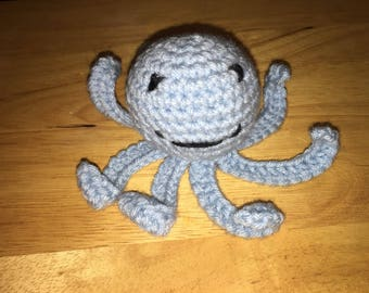 Light Blue Mini Stuffed Octopus
