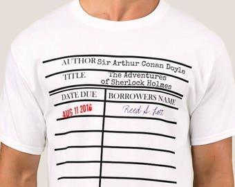 Customized Library Due Date Card Graphic© T-shirt - Personalized For Your Special Day