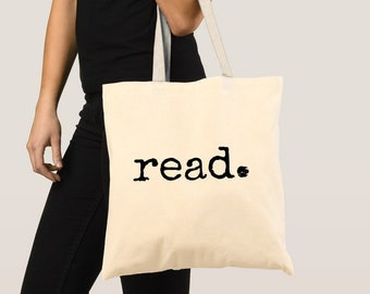 read. book tote makes the perfect bookish gift for librarians 831847878c841