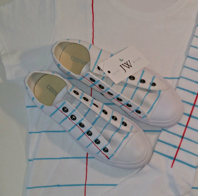 8e8d2a2dff5e Converse or Vans Notebook Paper Graphic© Shoes For Men and