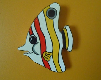 Colorful Wooden Sea Creatures Fish Wall Decor