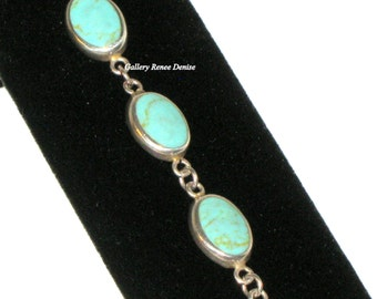 Southwestern Bracelet Turquoise ? Sterling Silver Vintage Bracelet SWBR101