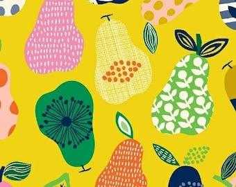 Yellow pears organic cotton - Windham Fabrics Hand Picked Pears