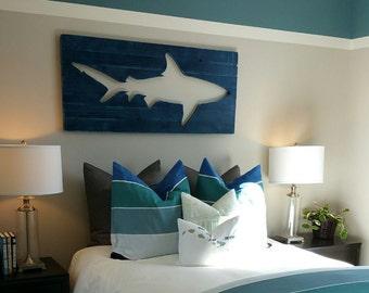 distressed wood wall art 2x4 wall distressed shark pallet wood wall art surf decor beach decor wooden art etsy