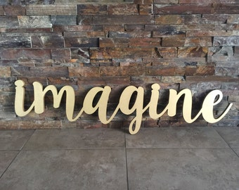 Imagine Wooden CNC Cut-Out Wall Art