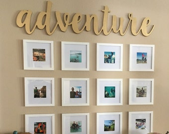 Adventure Wooden CNC cut-out wall art