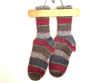 d1a691ed743 Hand Knit Nordic Style Winter Socks - Soft Comfy Slouchy and Durable Boot  or Slipper Socks
