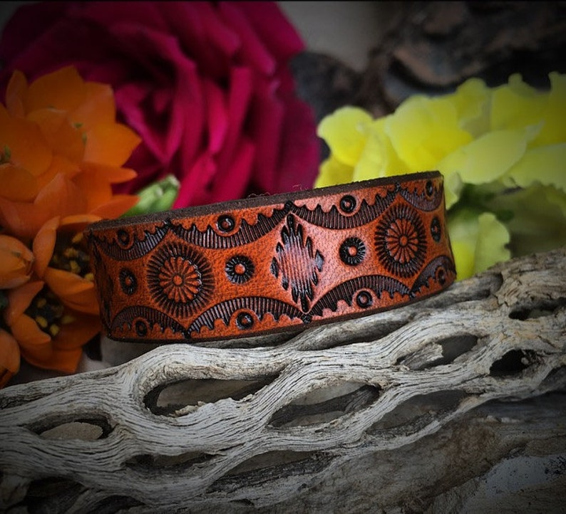 The Daisy Leather Cuff image 0