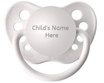 Personalized Pacifier - Personalized Binky - Name Pacifier - Gender Reveal - Pregnancy Reveal - Baby Shower Gift - Engraved Pacifier
