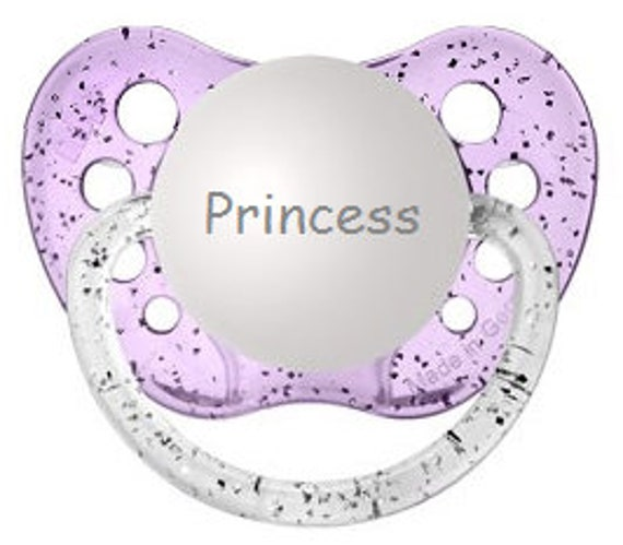 Princess Pacifier Princess Binky Sparkle Baby Soother