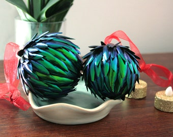 Beetle Wing Alternative Fashion Christmas Ornament
