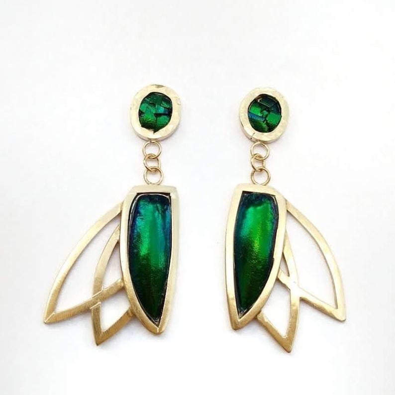 Pinion Earrings. Gothic Jewelry Avante Garde Jewelry Cosplay image 0