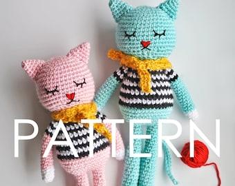 Cat Amigurumi Crochet PDF Pattern - Instant Download (English)