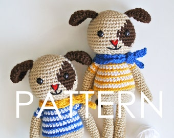 Dog Amigurumi Crochet PDF Pattern - Instant Download (English)