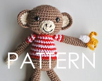 Monkey Amigurumi Crochet PDF Pattern - Instant Download (English)