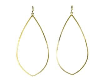 Gold Teardrop Hoops