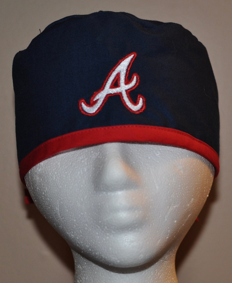 MLB Atlanta Braves Embroidered Men's Scrub Cap/Hat - One Size Fits Most