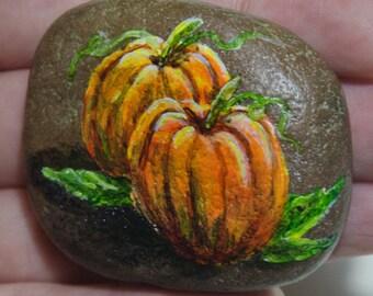 Handpainted Rock - Painted Rock - Pumpkin